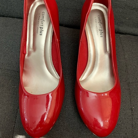 Comfort Plus Red Heels size 7.5 shoes
